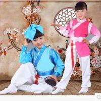 元旦新款儿童三字经书童表演服中小学生汉服男女弟子规表演服批发
