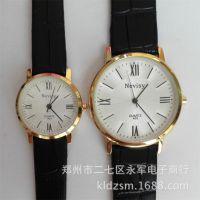 批发瑞士尼唯斯时尚真皮情侣手表简约时尚中学生男女手表