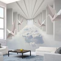 3d立体延伸空间背景墙现代简约无缝客厅电视墙纸办公室服装店壁纸无纺布壁布