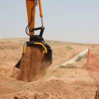 江西卡特挖掘机滚筒筛分斗 液压旋转石子分筛斗