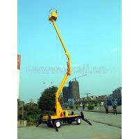 12米双用曲臂液压维修厂房设备用高空升降车 移动式小型升降平台