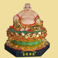 未来佛 弥勒佛神像彩绘贴金树脂邓州善缘佛像厂