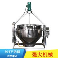强大机械出售刮底搅拌夹层锅 羊肉蒸煮锅