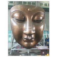 佛头雕塑,宗教摆件雕塑,佛头雕塑厂家,大型不锈钢佛头雕塑厂家生产制作