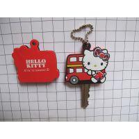 kitty猫PVC钥匙套,软胶动漫卡通系列钥匙冒