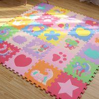 蔓拼图地垫婴儿家用爬爬垫儿童加厚垫子拼接泡沫卧室客厅爬行垫
