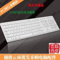 批发白色单键盘 力美K9有线键盘办公游戏单键盘USB通用键盘