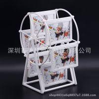 欧式拾光宝盒旋转摩天轮相框摆台创意diy风车照片树可爱结婚相架