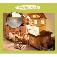 兼容森贝儿森林灯光大屋儿童女孩过家家玩具别墅娃娃房生日礼物