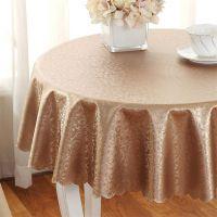圆桌布 烫金PU圆形台布桌垫耐热防水防油免洗餐桌圆盘转盘茶几垫