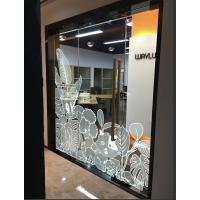 横岗防晒不褪色异形玻璃贴高精度喷绘制作厂家