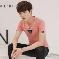 2018夏季男士短袖T恤圆领韩版修身男打底衫纯棉半袖男T恤加大码装