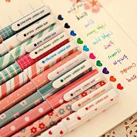0417日韩文具小清新碎花水彩笔 彩色中性笔彩色水性笔10支套装