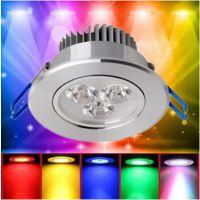LED射灯彩色3W瓦红蓝绿黄酒吧酒店吧台客厅酒柜筒灯天花灯可转