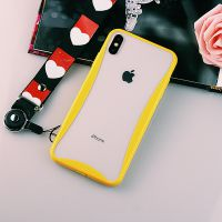 合之源苹果XSMAX采用TPU+PC二合一边框式简约手机壳带防尘塞及挂绳孔透明手机保护套厂家批发