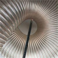 家具厂粉尘车间专用吸尘风管 PU镀铜钢丝伸缩软管 耐磨损钢丝管