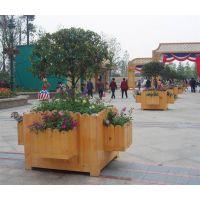 定做HUX017防腐木户外花箱 花槽组合广场公园花车路边花坛