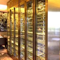 不锈钢专用恒温酒柜 玫瑰金 香槟金 古铜色 黑钛金酒柜