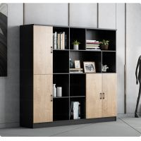 办公室木质文件柜经理三四五门小书柜现代简约展示柜隔断定制柜子
