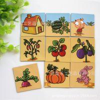 九宫格磁性拼图定制 儿童卡通趣味拼图 幼儿早教玩具礼品赠品