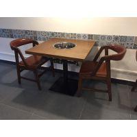 现代中式火锅城餐厅板式火锅桌椅
