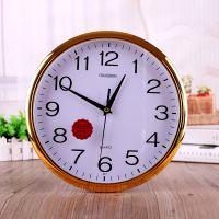 常胜9..10.12.14英寸915卧室客厅办公静音时钟挂钟简约石英钟挂表