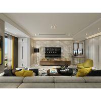 贵阳新世界洋房装修案例,简欧风格装修效果图,紫苹果国际设计