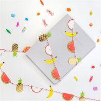 小马百货 创意文具批发 新款 卡通水果造型彩旗 派对装饰拉花