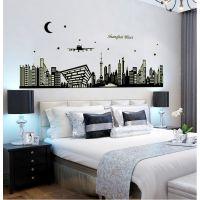 厂家批发 ABQ9636 上海·之夜 东方明珠 夜光墙贴 夜光贴