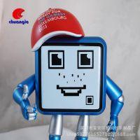 注塑ABS机器人摆件 厂家定制外贸款卡通公仔 工艺品
