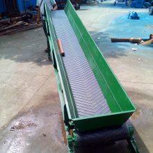 兴运移动式皮带输送机代理运行平稳 移动式袋装沙子装车皮带输送机