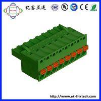浙江工厂直销5.08mm插头/插拔式接线端子工控安防电子连接器