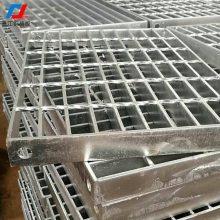 钢格板井盖_材质Q235定制方形雨水井盖承重型钢格板