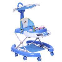 婴儿学步车6-18个月手推可坐防摔i防侧翻多功能带音乐宝宝助步车