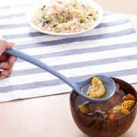 盛粥勺勺子稀饭长柄家用手勺打汤大汤瓢菜勺小麦秸秆汤勺长柄塑料