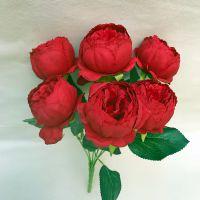 婚庆用仿真花 新娘捧花 7头包芯牡丹花束婚庆花墙配件花