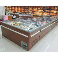 河南海鲜冷冻柜厂家 超市组合岛柜 商用卧式冷藏柜价格