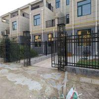 厂家直销别墅小区工厂铁艺大门围墙锌钢方管栏杆工地现场围栏