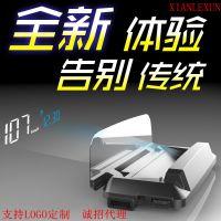 新款虚像高清投影HUD汽车抬头显示器OBDII行车电脑H400白色显示