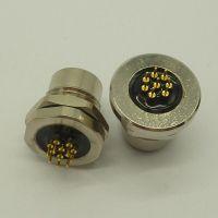 m12圆形插座PCB板防水航空插头8芯连接器深圳汇林数码科技