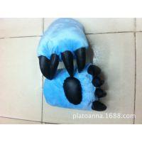 厂家直销熊掌手套 恐龙爪熊爪兽爪手套 毛绒玩具虎爪子暖手套