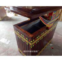 户外钢木垃圾桶 钢板加固果皮箱 分类垃圾桶 户外防腐木垃圾箱 果皮箱
