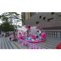 熊猫岛乐园六一暖场法宝 儿童乐园 熊猫岛租赁 猪猪岛气模