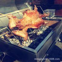 热销商用无烟烤羊炉 自动翻转烤羊腿烤全羊炉子 炭火烧烤炉