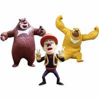 正版授权熊出没玩具套装熊大熊二光头强儿童动漫公仔3岁厂家批发