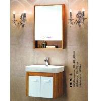 创客中美科勒CKMAKER,简约北美中式风格陶瓷台面,橡木柜体镜体CKLV-34