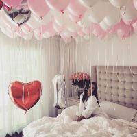 婚庆婚房布置气球装饰结婚浪漫宝宝周岁生日雨丝气球派对吊坠套餐