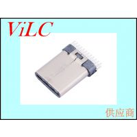 USB3.1 TYPE C公头-夹板0.8公头-PIN距加宽typec公座
