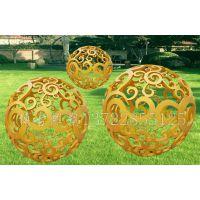 不锈钢景观球 抽象 缕空花球园林房地产景观雕塑