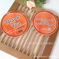 杯垫厂家供应 40pt吸水纸杯垫定制 白卡纸浆杯垫定做 环保材料